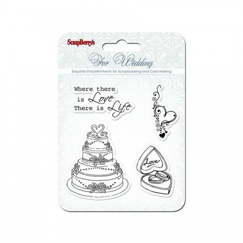 Set Of Stamps 10,5*10,5Cm Wedding Scb4901011B