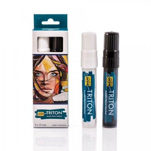 Triton Akrüülvärvi Marker 15.0 - K-T Must,Valge