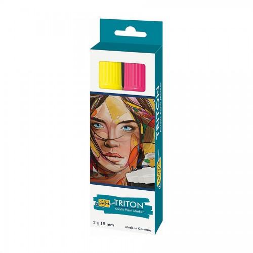 Triton Akrüülvärvi Marker 15.0 - K-T Fluo Roosa, Kollane