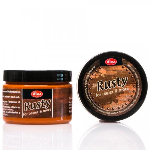 Dekoratiivvärvid, Rooste-Efektiga  Värv150Ml - Rust-Orange