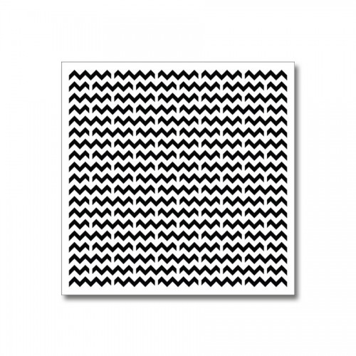 Stencil-Mask Chevron Pattern 15,2*15,2Cm Thickness 0,15Mm