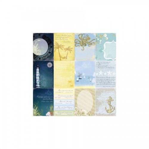 Scrapbookingu paber 30x30 cm-  180Gsm  Seaside Sea Legends
