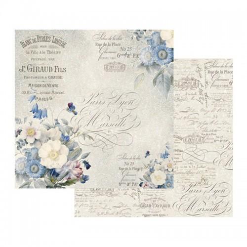 Scrapbookingu Paber 30X30  -  Old England Bouquet