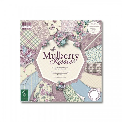 20x20cm  paberiplokk,Mulberry Kisses