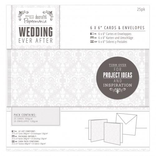 15x15cm  Kaarditoorikud+ümbrikud (25tk) - Wedding - Damask