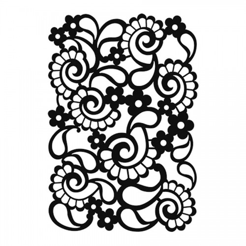 "Background Stencil ""Paisley Small"" Ca. 13,5X20 Cm"