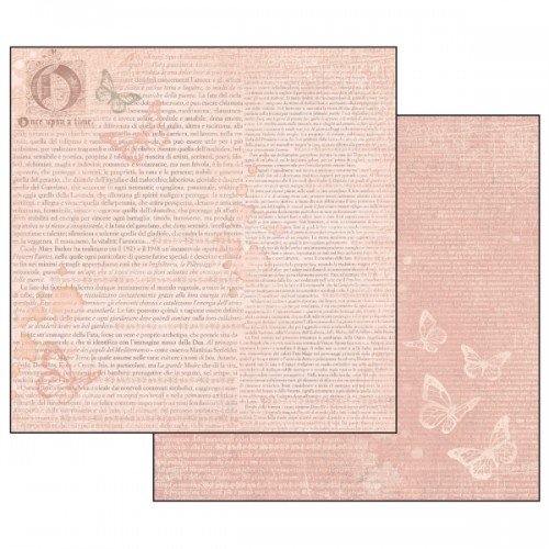 Scrapbookingu Paber 30X30 -  Writing Ofn Pink N+Background And Butterflies