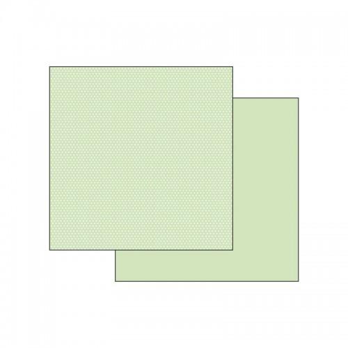 Scrapbookingu Paber 30X30 -  Texture Green Hearts