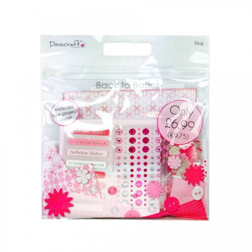 Dovecraft Back To Basics Goody Bag  Pink