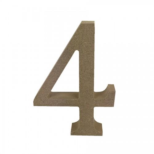 Mdf Number Blank  4