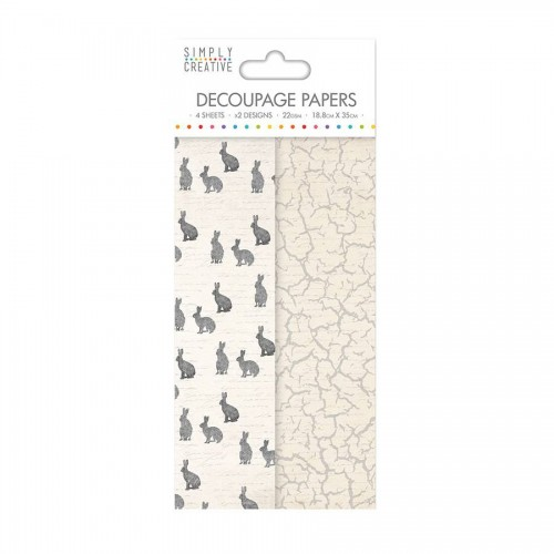 Simply Creative Decoupage Paper  Hares