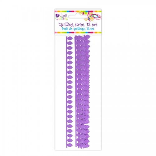 Quillingu Ribad Sakilise Servaga - Purple, 12 Pcs
