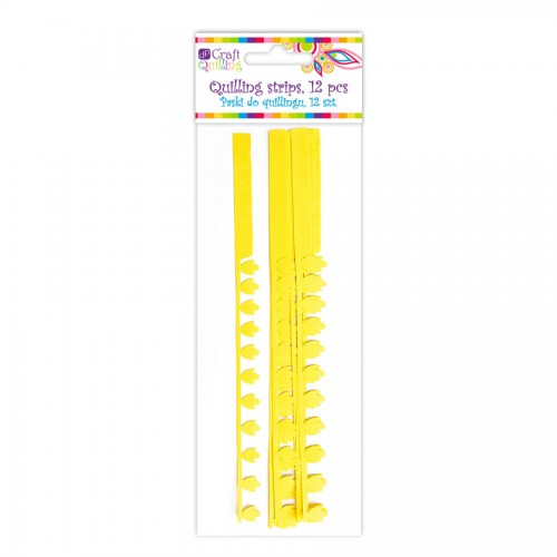 Quillingu Ribad Sakilise Servaga - Yellow, 12 Pc