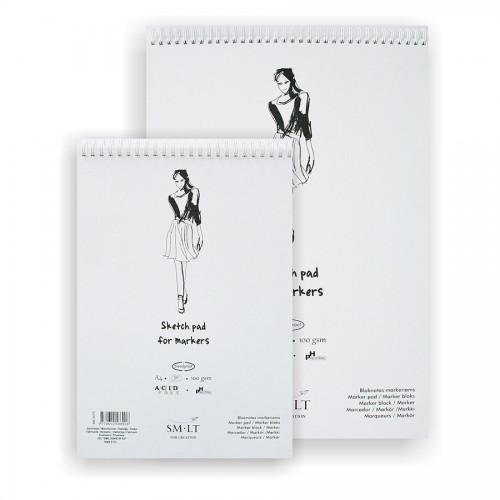 Markerite paberiplokk Authentic (Marker)A4, 50 lh,100g/m