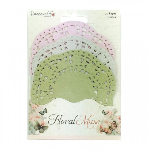 Dovecraft Floral Muse Paper Doilies