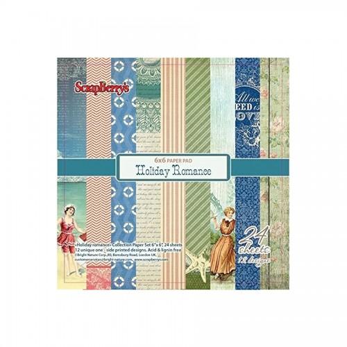 15x15cm  paberiplokk -Holiday Romance 170gsm, 24 lh