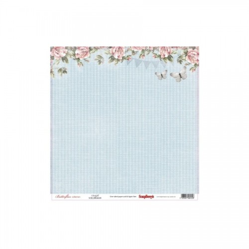 Scrapbookingu paber 30x30 cm- 190gs  Butterflies - Delight