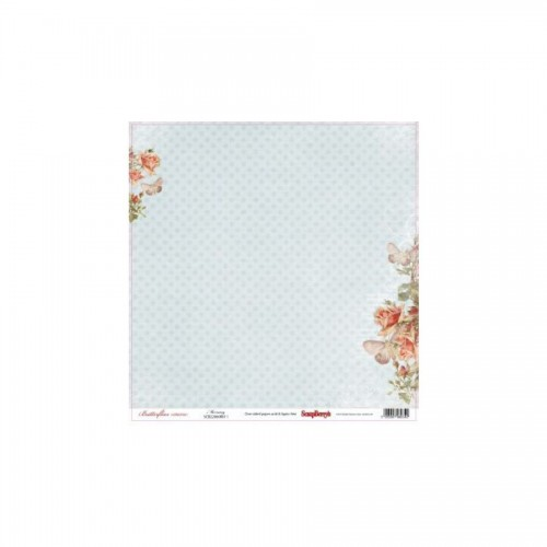 Scrapbookingu paber 30x30 cm- 190gs Butterflies - Morning