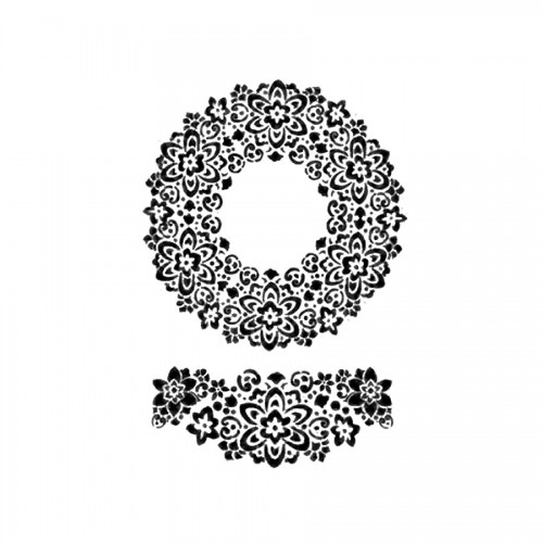 Sabloon 21X29.7Cm Garland Of Flowers And Volute
