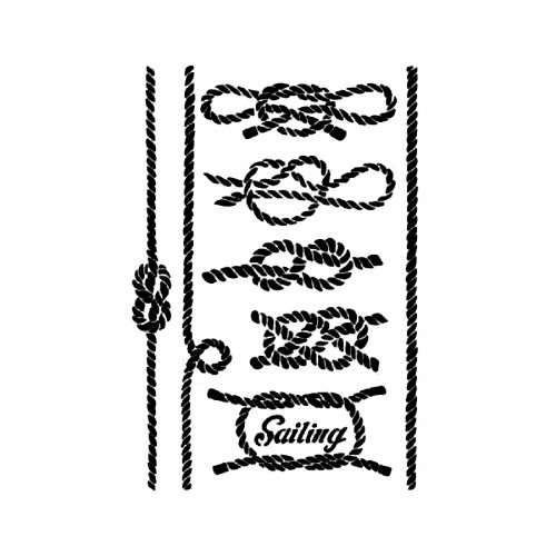 Sabloon 21X29.7Cm Sailing Knots