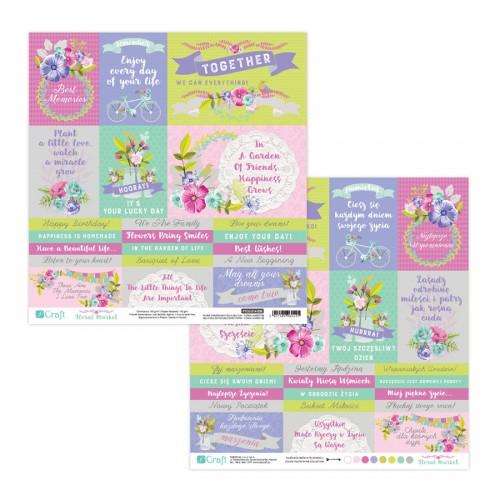 Scrapbookingu Paber 30X30 cm - Floral Market