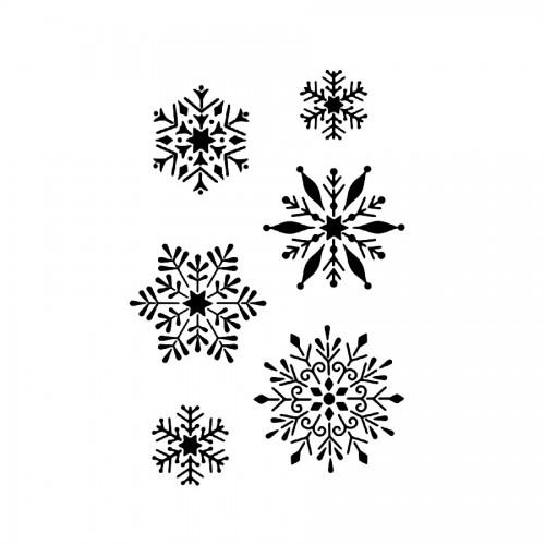 Sabloon A4  Snowflake