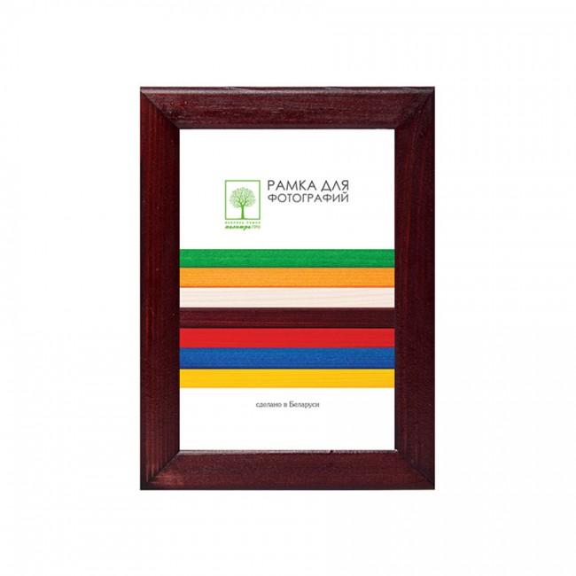 Рамка дерев. со стеклом 10х15 Д18КЛ/1812 (бордовая