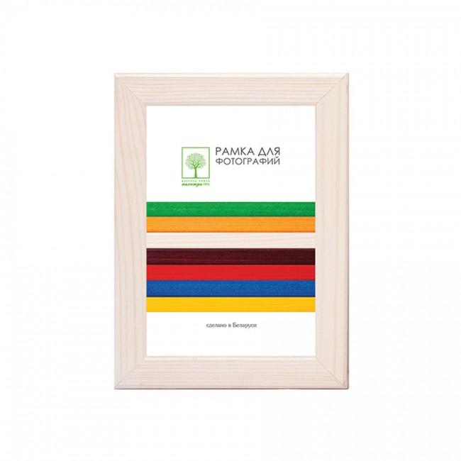 Рамка дерев. со стеклом 15х21 Д18КЛ/1374 (молочно-