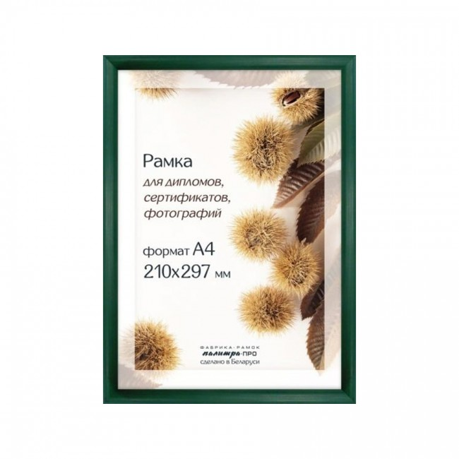 Рамка Дерев. Со Стеклом 21Х30 Д14Кл/2232 (Зелёная)