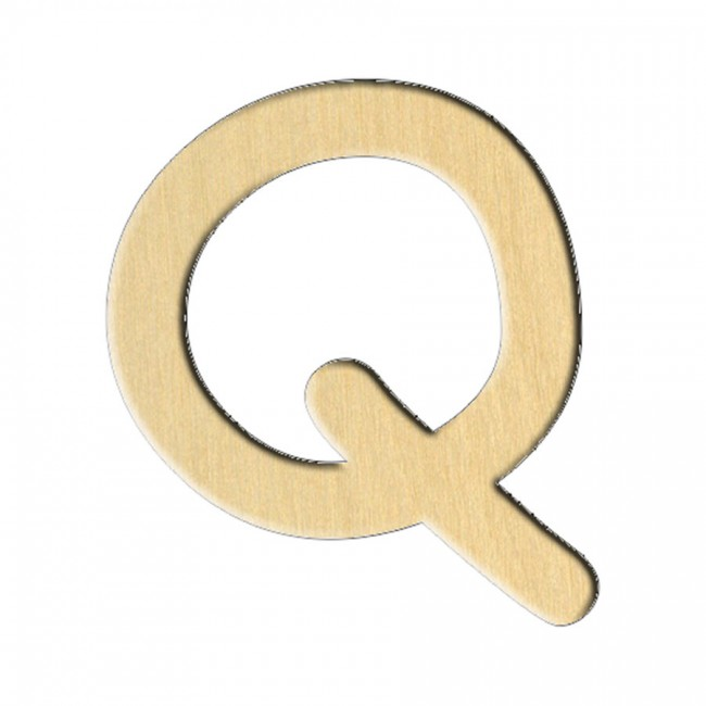 "Заготовка Дер. 239 ""Буква Q (Анг.)"" 7,4Х8,2 См"