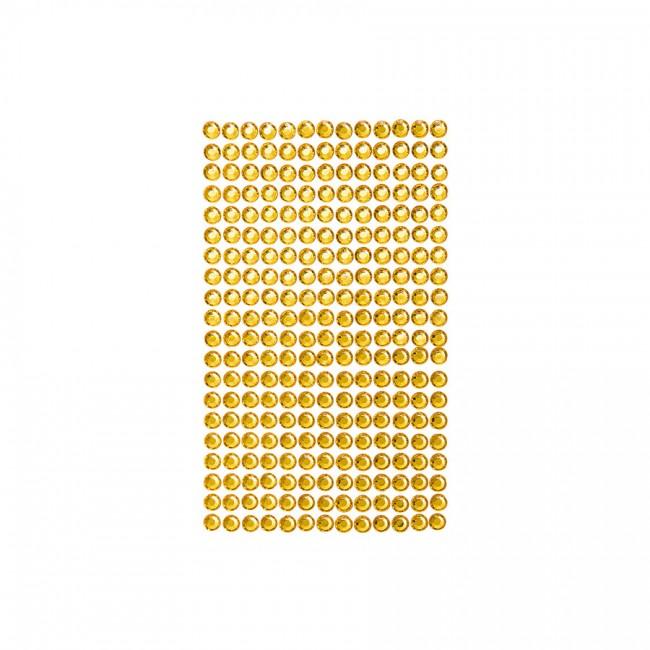 Самоклеящиеся Кристалы 6Mm, 260 Шт., Yellow