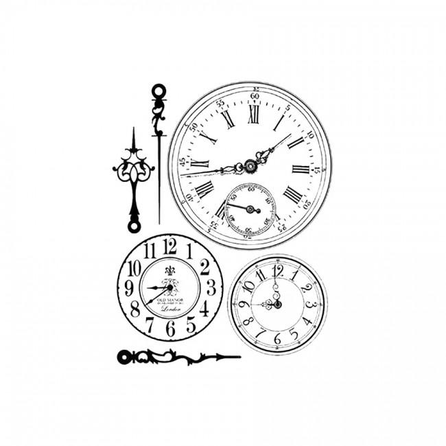 Hd Rubber Stamp  Cm. 14X18 Clocks