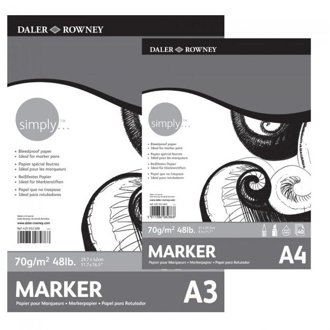 Бумага для маркеров,А4,40л,70г/м