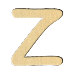 "Заготовка Дер. 248 ""Буква Z (Анг.)"" 6,3Х7 См"