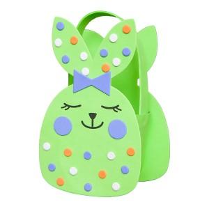 Пасхальная Корзинка Из Пвх - Зеленый Кролик
