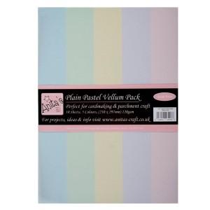 """A4 """"Parchment Vellum"""" бумага 10шт  - Plain Pastels"""