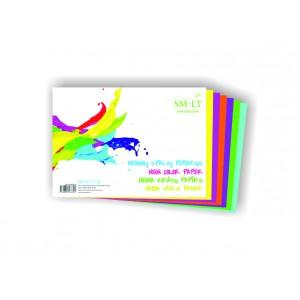 А4  цветная бумага, 6 л. НЕОН