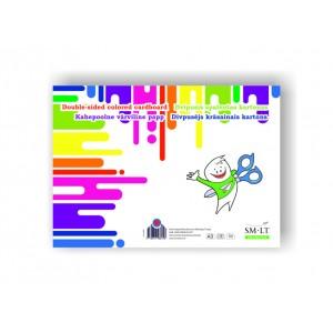 А3 двухсторонний цветной картон, 16 листов