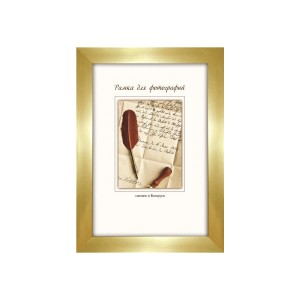 Рамка пласт. со стеклом 10х15 1776/501Н (золотая)