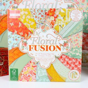 Набор бумаги для скрапбукинга,15х15см,Floral Fusio