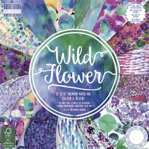 Набор бумаги для скрапбукинга,30х30см,Wild Flower