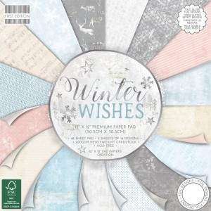Набор бумаги для скрапбукинга,30х30см,Winter Wishe
