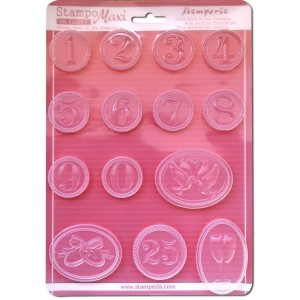 Soft maxi Mould  - Dates and anniversary