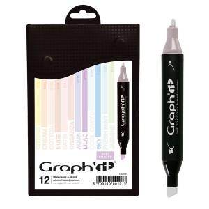 Комплект маркеров GRAPH'IT из 12 шт.- Pastels - So