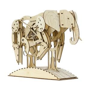 Конструктор из дерева, модель Слон