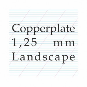 Copperplate Calligraphy 1,25 mm  – A4 Paper Pad (L