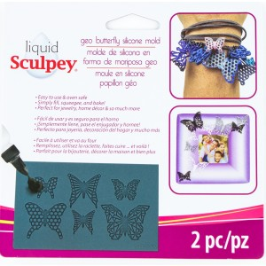 Sculpey Silicone Bakeable Mold -- Geo Butterfly