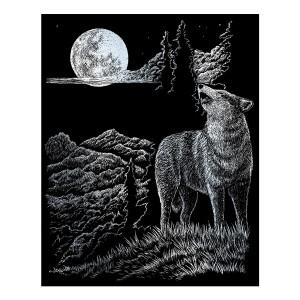 Гравюра Волк