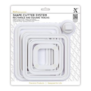 Shape Cutter System (7Pcs) Squares & Rectangle Tra