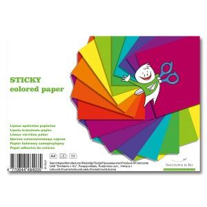 Цветная Клейкая Бумага, А4, 8 Листов